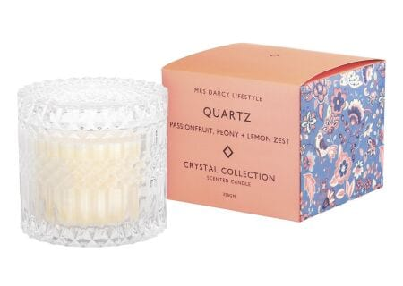 Candle Crystal Quartz-Passionfruit, Peony and Lemon Zest