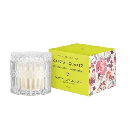 Candle Crystal Quartz - Coconut, Lime   Passionfruit