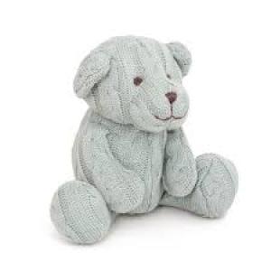 CABLE KNIT TEDDY BEAR Blue